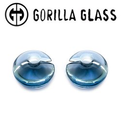 "Gorilla Glass Solid Eclipse 1.5oz Ear Weights 1/2"" And Up (Pair)"