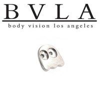 BVLA 14kt Yellow White Rose Gold Pac-Man Happy Ghost Threaded 6mm End 18g 16g 14g 12g Body Vision Los Angeles