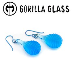 Gorilla Glass Simple Swerve Earrings (Pair)