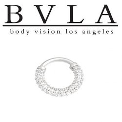 BVLA Harmony 14kt Gold Septum Ring Clicker 16g Body Vision Los Angeles