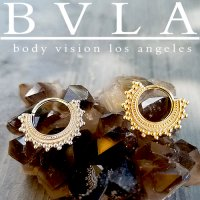 "BVLA Afghan 14kt Gold Septum Ring 12g 5/16"" Body Vision Los Angeles"