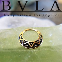 "BVLA 14kt Gold ""Anastazi"" Septum Clicker Ring 16 Gauge 16g Body Vision Los Angeles"
