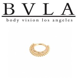 BVLA Inara 14kt Gold Septum Ring Clicker 14g Body Vision Los Angeles