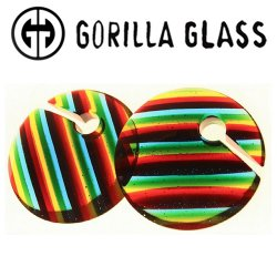 "Gorilla Glass Linear Eclipse 4.2oz Ear Weights 7/8"" And Up (Pair)"