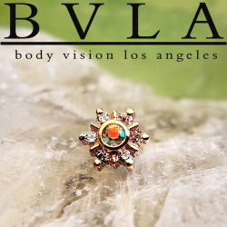 "BVLA 14kt 18kt Gold Mini ""Toltec"" Threadless End 18g 16g 14g ""Press-fit"""