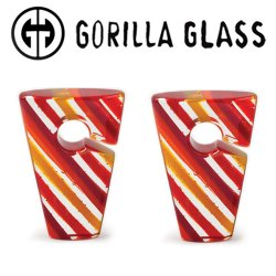 "Gorilla Glass Linear Rhomboids 2.4oz Ear Weights 1"" And Up (Pair)"