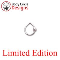 "Body Circle Surgical Stainless Steel 5/16"" Triangle Captive Bead Ring 14 Gauge 14g"