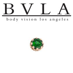 "BVLA 14kt Gold 7.5mm ""Crown"" Threaded Gem End 18g 16g 14g 12g Body Vision Los Angeles"