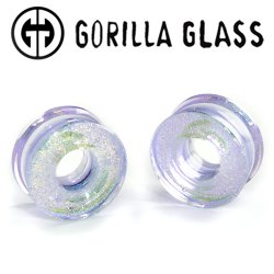 "Gorilla Glass Deluxe Dichroic Eyelet Plugs 1"" to 3"" (Pair)"