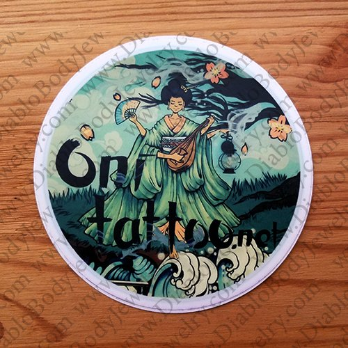 "Oni Tattoo Sticker 4"" - Click Image to Close"