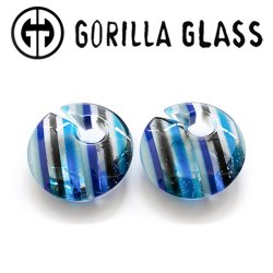 "Gorilla Glass Linear Eclipse 1.5oz Ear Weights 1/2"" And Up (Pair)"