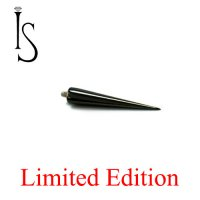 "IS Limited Edition Black Titanium Threaded Spike 5/8"" 14 Gauge 14g"