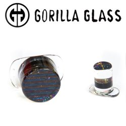 Gorilla Glass Iridescent Labrets 0 Gauge to 1""