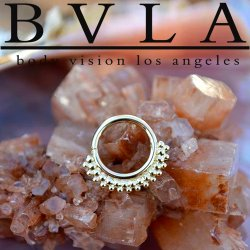 "BVLA 14kt Gold ""Kolo"" Nose Nostril Septum Daith Seam Ring 16 Gauge 16g Body Vision Los Angeles"