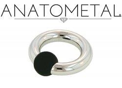 Anatometal Surgical Stainless Steel Rubber Ball Captive Bead Ball Closure Ring 4g 4 Gauge