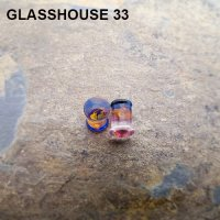 "Glasshouse 33 Angst Double Flare Plugs 0g to 1"" (Pair)"