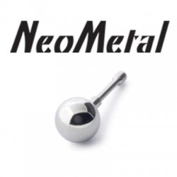 "16 Gauge 16g NeoMetal Threadless Titanium Ball 5/32"" ""Press-fit"""