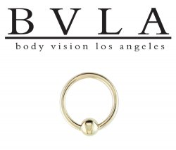 BVLA 14kt Gold Captive Bead Closure Ring Or Fixed Bead Ring 14g Body Vision Los Angeles