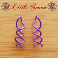 "Little Seven Niobium ""Caduceus\"" Spiral Twist 12g (Pair)"