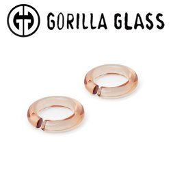 Gorilla Glass Solid Round Saturns 0.9oz Ear Weights 00 Gauge 00g (Pair)