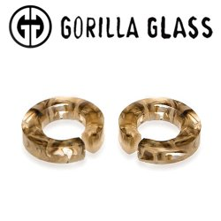 "Gorilla Glass Power Flat Saturns 0.9oz Ear Weights 9/16"" And Up (Pair)"