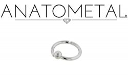 Anatometal Surgical Stainless Steel Fixed Bead Ring 14 Gauge 14g