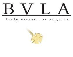 BVLA 14kt Yellow White Rose Gold Iron Cross Nostril Screw Nose Bone Ring Nail Stud 20g 18g 16g Body Vision Los Angeles