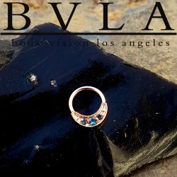 "BVLA 14kt Gold ""Lacey"" Nose Nostril Septum Daith Ring 20 Gauge 20g Body Vision Los Angeles"