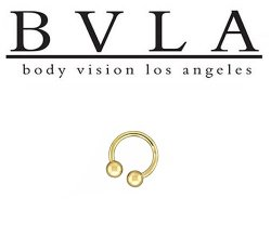 BVLA 14kt Gold Circular Barbell 16g Body Vision Los Angeles