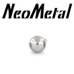 "18 Gauge 18g NeoMetal Threadless Titanium Ball 1/8"" ""Press-fit"""
