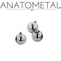 Anatometal Surgical Steel Threaded Ball End 10g 8g 10 8 Gauge