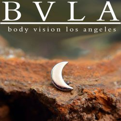 "BVLA 14kt Gold ""Moon"" Threadless End 18g 16g 14g ""Press-fit"""