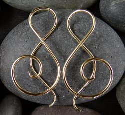 Little Seven Brass Shakti Spiral 14g 12g 10g (Pair)