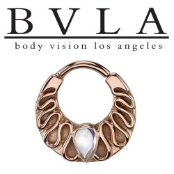 "BVLA 14kt Gold ""Callisto"" Nose Nostril Septum Ring 16g Body Vision Los Angeles"