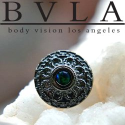 "BVLA 14kt Gold ""Nanda"" 11mm Threaded End Dermal Top 18g 16g 14g 12g Body Vision Los Angeles"