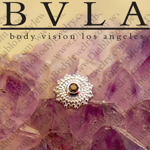 "BVLA 14Kt Gold ""Afghan"" Threaded End Dermal Top 18g 16g 14g 12g Body Vision Los Angeles - Click Image to Close"