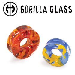 "Gorilla Glass Power Eyelet Plugs 1"" to 3"" (Pair)"
