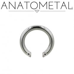 Anatometal Titanium Front-set Circular Barbell (Shaft Only, No Ends) 14 Gauge 14g