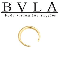 BVLA 14kt Gold Pincher Nose Nostril Septum Ring 12 Gauge 12g Body Vision Los Angeles