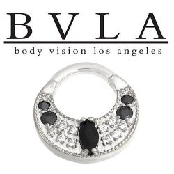 "BVLA 14kt Gold ""Atiesh"" Septum Clicker Ring 14 Gauge 14g Body Vision Los Angeles"