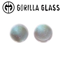 "Gorilla Glass Fused Dichroic Single Flare Plugs 0 Gauge to 1"" (Pair)"