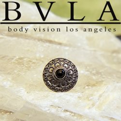 "BVLA 14kt Gold ""Nanda"" 7mm Threaded End Dermal Top 18g 16g 14g 12g Body Vision Los Angeles"