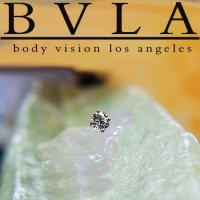 BVLA 14kt Gold 4-Prong 1.5mm Gem Threaded End Dermal Top 18g 16g Body Vision Los Angeles