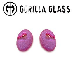 "Gorilla Glass Fused Dichroic Ovoids 0.5oz Ear Weights 1/2"" And Up (Pair)"