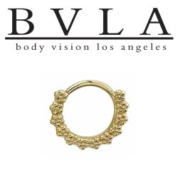 "Body Vision BVLA 14kt Gold ""Milo"" Nose Nostril Septum Ring 18 Gauge 18g"