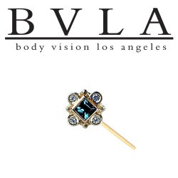 "BVLA 14Kt Gold ""Aspen"" Nostril Screw Nose Bone Ring Stud Nail 20g 18g Body Vision Los Angeles"