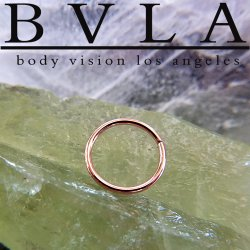 BVLA 14kt Gold Seam Ring 18 Gauge 18g Body Vision Los Angeles