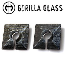 "Gorilla Glass Iridescent Square 1.6oz Ear Weights 1 1/8"" And Up (Pair)"