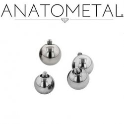 Anatometal Surgical Steel Threaded Ball End 14g 12g 14 12 Gauge