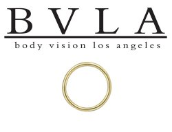 BVLA 18kt Rose Yellow White Gold Seam Ring 18g 18 gauge Body Vision Los Angeles